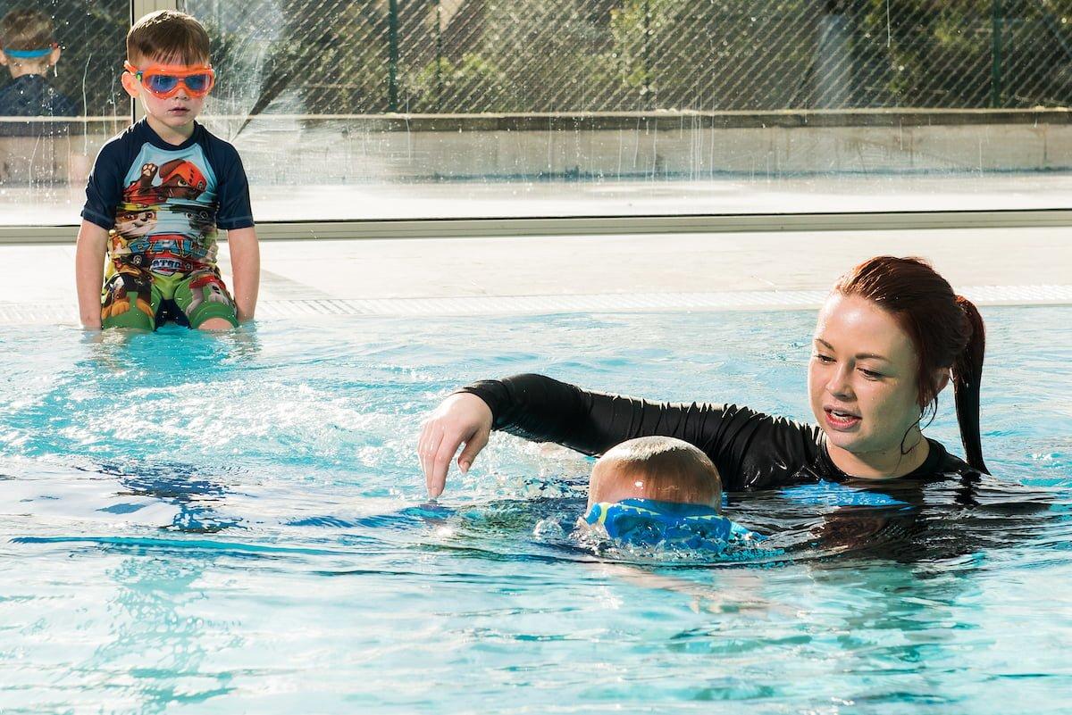 shared private swimming lesson